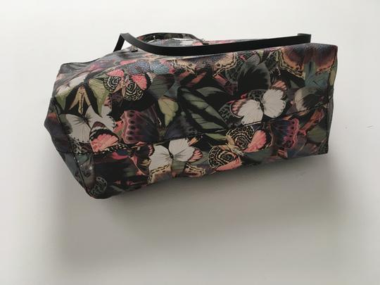 Valentino Rockstud Cambutterfly Tote in Multi Printed Leather Image 2
