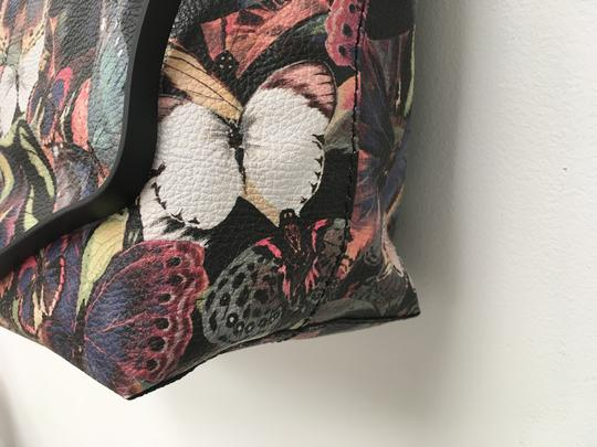 Valentino Rockstud Cambutterfly Tote in Multi Printed Leather Image 3