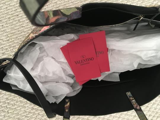 Valentino Rockstud Cambutterfly Tote in Multi Printed Leather Image 4