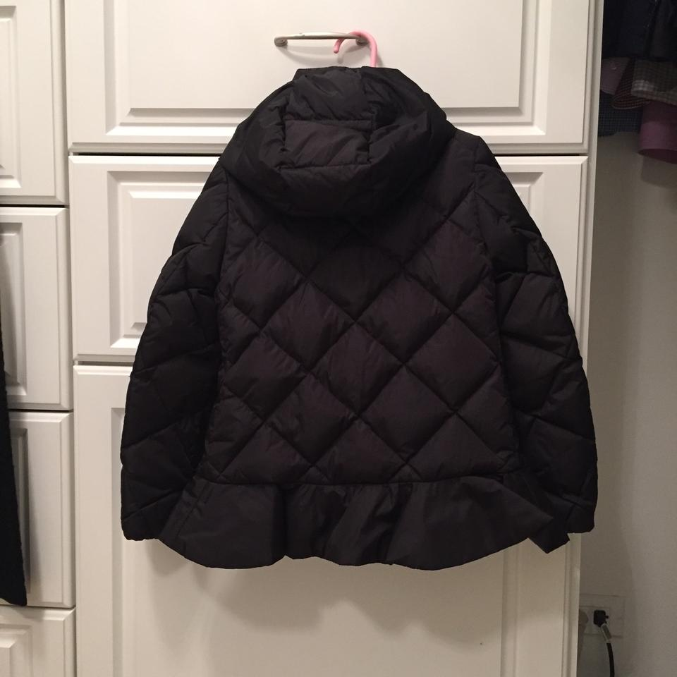 a9f99f937 Moncler Black Little Girl's Quilted Down Filled Peplum Coat Size 6 (S) -  Tradesy
