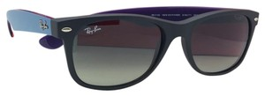 Ray-Ban RAY-BAN Sunglasses NEW WAYFARER RB 2132 6183/71 52-18 Black Blue Purpl