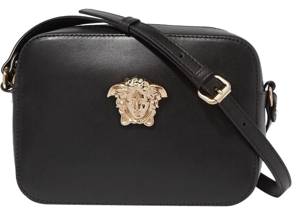 c867542dbf7f Versace New Palazzo Camera Black Leather Shoulder Bag - Tradesy
