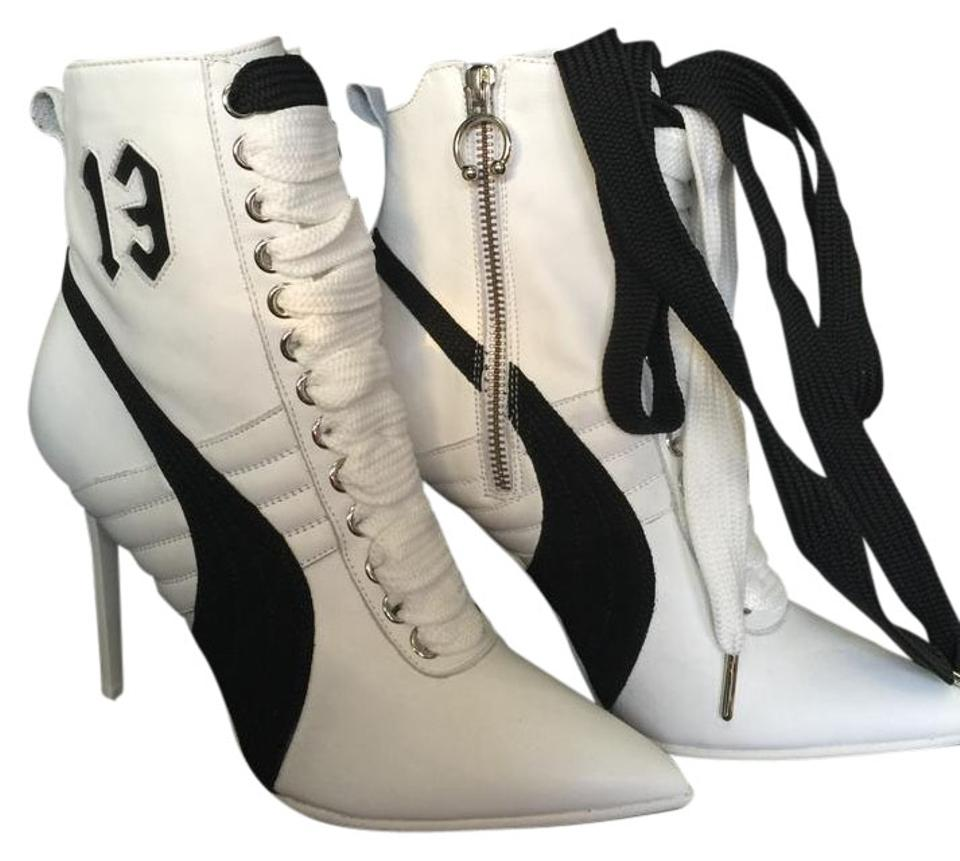 1591aa20494e FENTY PUMA by Rihanna White   Black 2016 Leather Pointed Boots Booties. Size   US ...