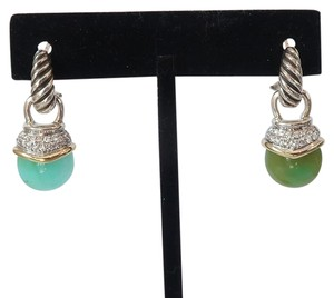 David Yurman David Yurman Aqua Chalcedony Two Tone Drop Earrings Capri Collection