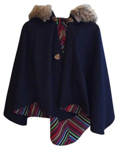 SpiritHoods Faux Fur Bold Stripe Textured Coachella Cape