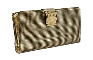 Chanel Large Perforated Gold Clutch