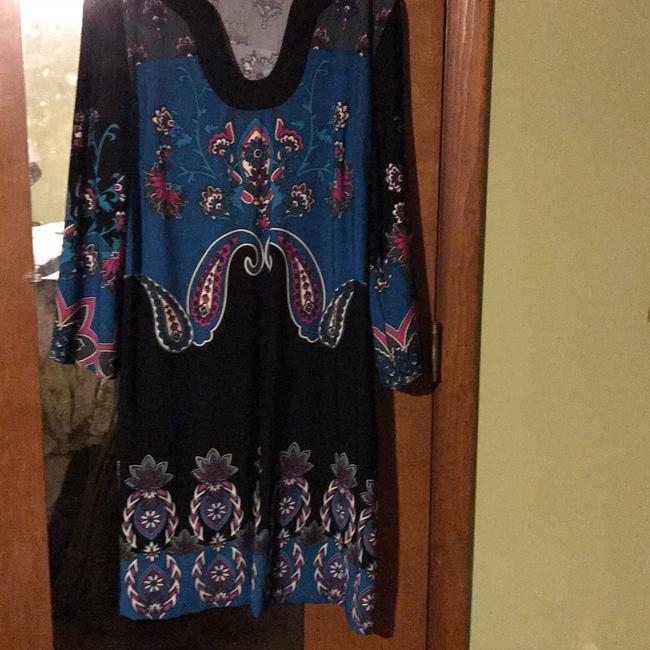 Item - Multi Colored and Print Knee Length Short Work/Office Dress Size 16 (XL, Plus 0x)