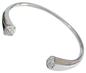 Other Pyramid Sparkle Cuff Bangle 18k White Gold Plated