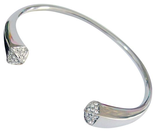 Preload https://item4.tradesy.com/images/18k-white-gold-plated-pyramid-sparkle-cuff-bangle-bracelet-2235433-0-0.jpg?width=440&height=440