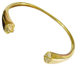 Other Pyramid Sparkle Cuff Bangle 18k Gold Plated