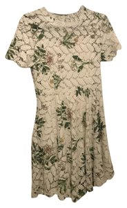 Chicwish short dress White and Green Floral Lace on Tradesy