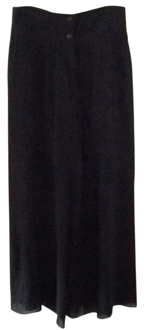 Karl Lagerfeld Palazzo Night Out Cocktail Dinner Date Super Flare Pants Black
