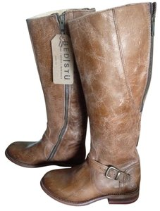 Bed Stü Leather Motorcycle Riding Caramel Distressed Boots