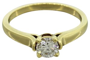 Cathy Waterman $6000 Estate 18k Solid c Gold 0.50ct Diamond Engagement Ring