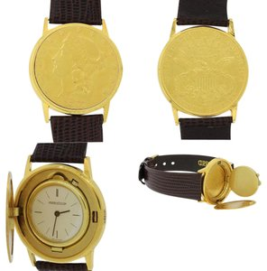Jaeger-LeCoultre 18k Yellow Gold Liberty $20 Coin 34mm Watch