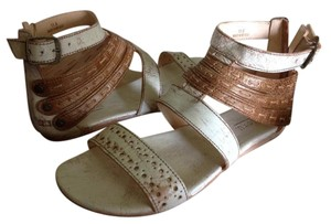 Bed|Stü Leather Gladiator Tan/White Rustic Sandals