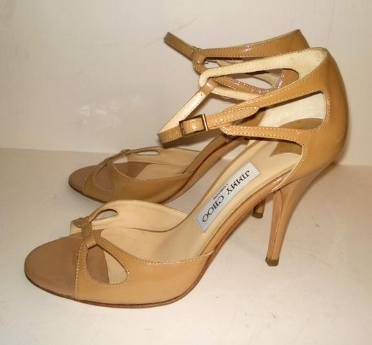 Jimmy Choo Camel Strappy Strappy Nude tan Sandals