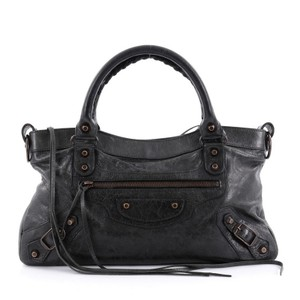 Balenciaga First Leather Tote in Black