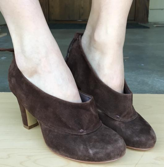 Jeffrey Campbell Suede Braid Fringe Cutouts Brown Boots