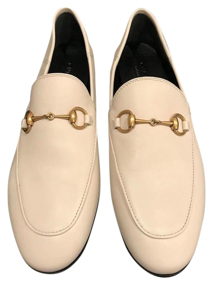 32394bbc140 Gucci White Brixton Jordaan Princetown Leather Loafer Mule Slipper ...