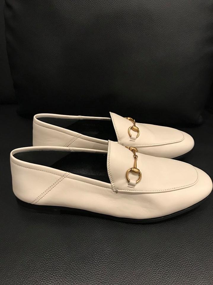 35fa44be27e Gucci Brixton Princetown Jordaan Loafer white Flats Image 11.  123456789101112