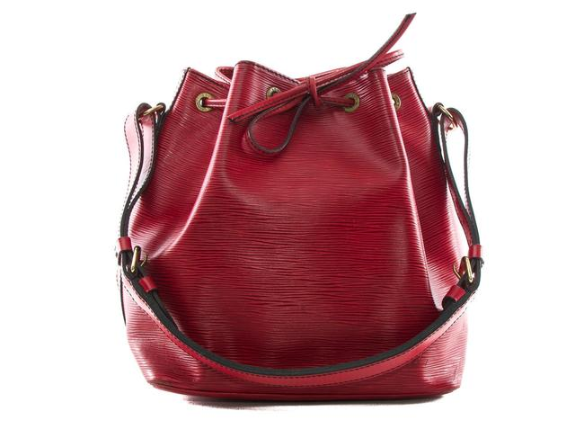 Louis Vuitton Epi Petit Noe M44107 Red Leather Tote Louis Vuitton Epi Petit Noe M44107 Red Leather Tote Image 1