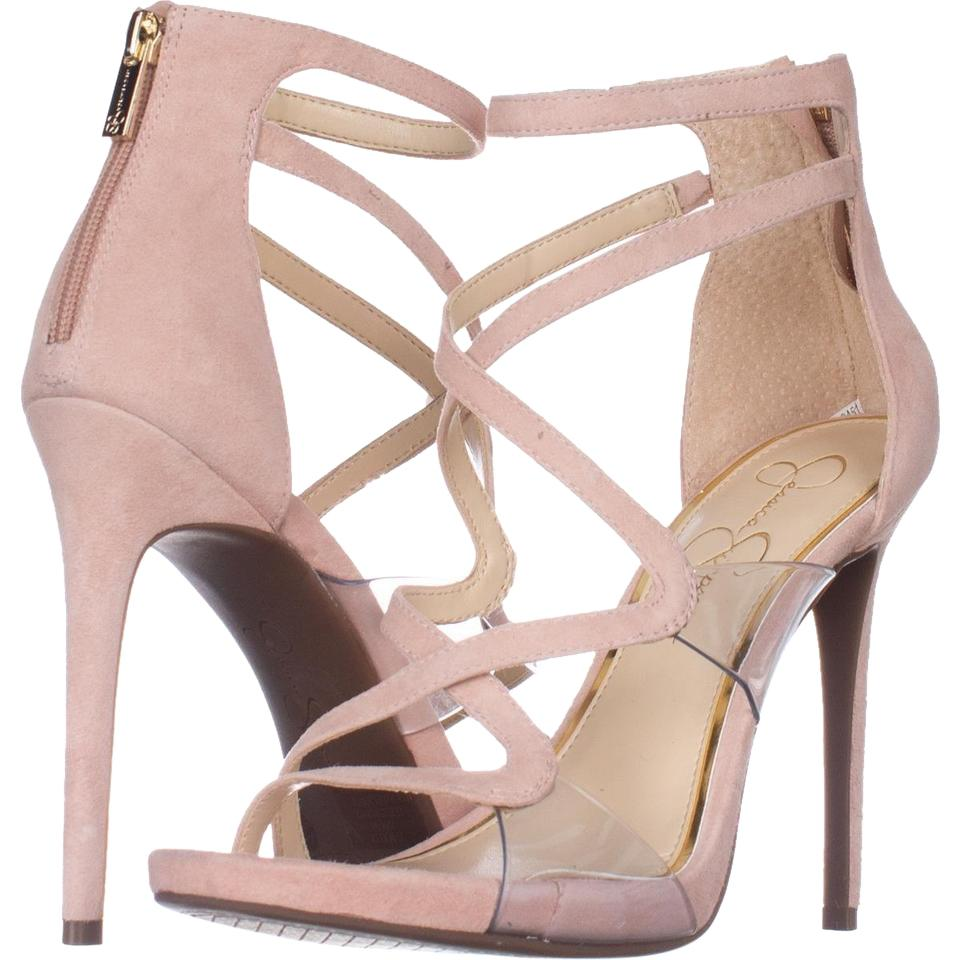 4c167bbf4b4 Jessica Simpson Pink Roelyn Heeled Strappy Sandals Nude Blush Pumps ...