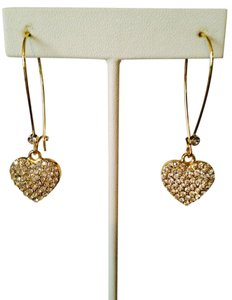 Jennifer Lopez NWOT Pave Hearts Dangle Earrings