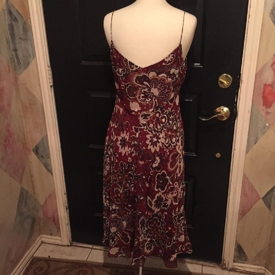 Ann Taylor Deep Red Mid-length Cocktail Dress Size 12 (L) - Tradesy