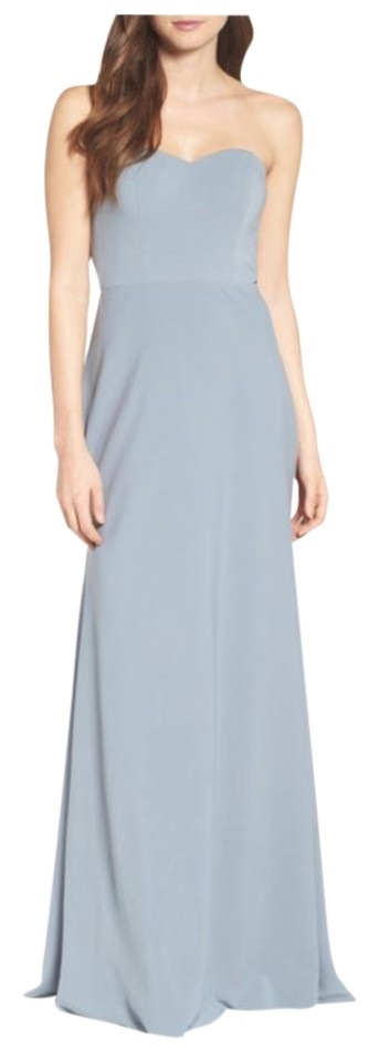 f820ad93892 Jenny Yoo Denmark Blue Kylie -stretch Crepe Strapless Long Formal ...