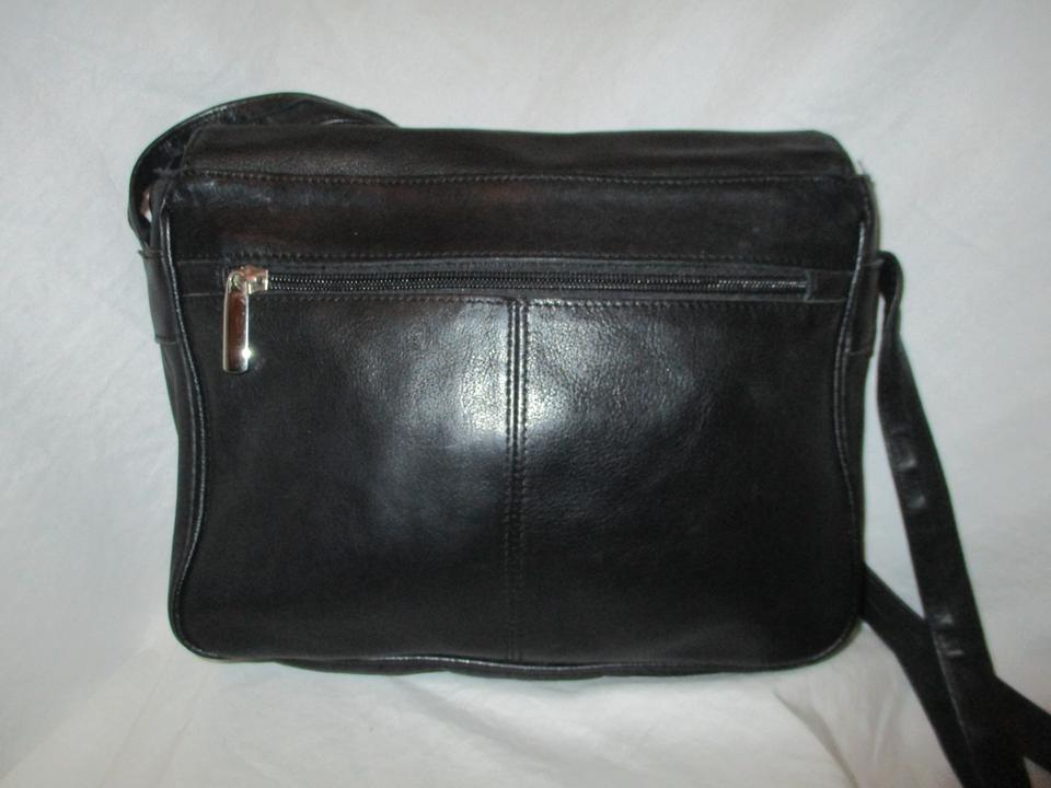 Wilsons Leather Vintage Organizer Black And Man Made Cross Body Bag