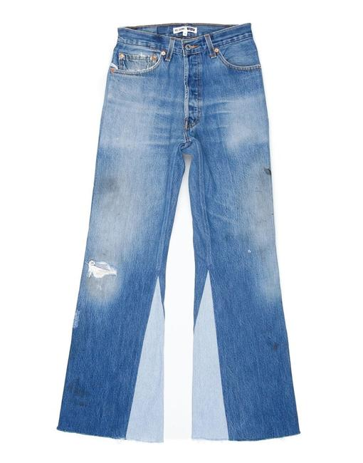 Item - Light Distressed Re/Done High Rise Crop Flare Leg Jeans Size 25 (2, XS)
