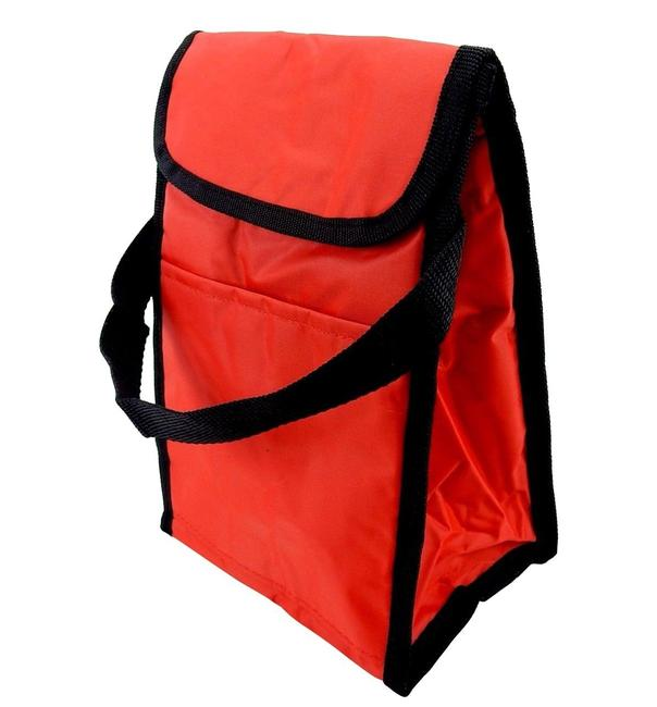 Insulated Lunch Thermal Lining Latching Flap. Red Rugged Nylon Outer Tote Insulated Lunch Thermal Lining Latching Flap. Red Rugged Nylon Outer Tote Image 1