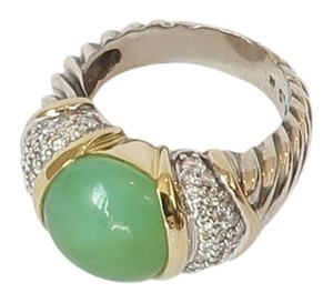 David Yurman David Yurman Aqua Chalcedony and Diamond Ring Capri Collection