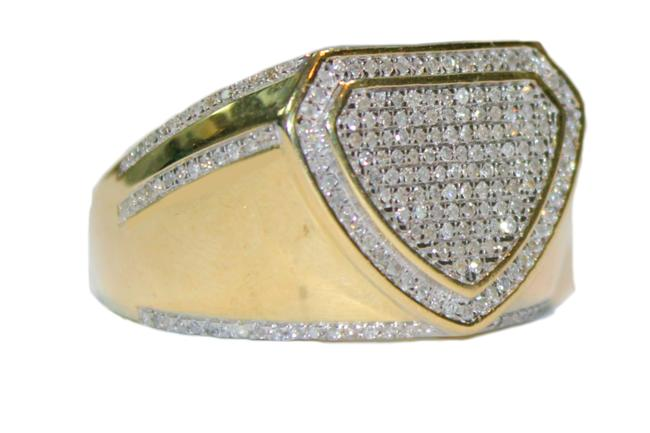 Yellow Gold (1037) 10k Men Diamond Ring Yellow Gold (1037) 10k Men Diamond Ring Image 1