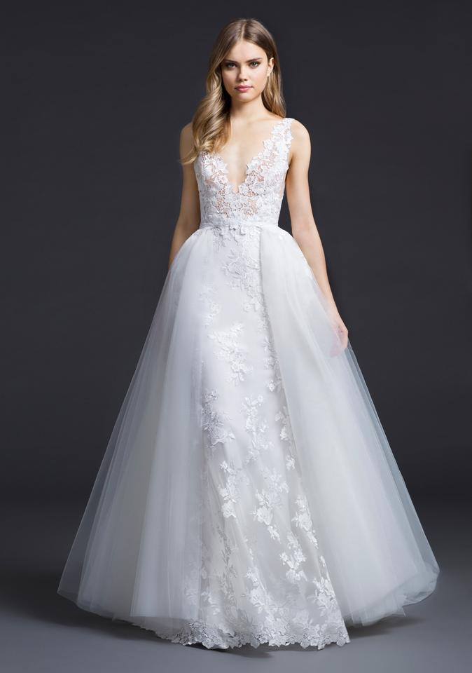 Modern Wedding Dresses.Lazaro Ivory Lace Tulle 3656 Modern Wedding Dress Size 8 M 54 Off Retail