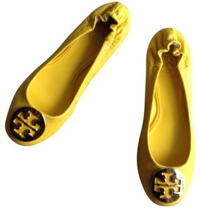 Tory Burch Leather Ballerina Ballet NEW sunny yellow Flats
