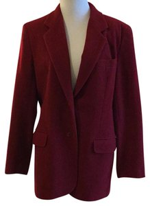 Et Vous 65% Wool 25% Lambwool 10% Cashmere Dry Clean Only Made In Hong Kong red Blazer