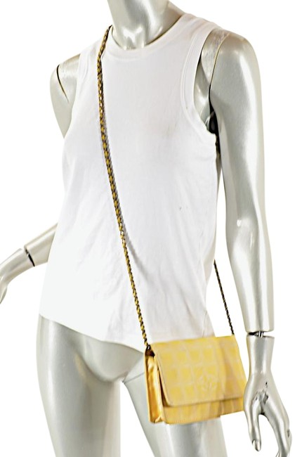 Item - Timeless Wallet on Chain Woc Fabric Cc Yellow Canvas Cross Body Bag