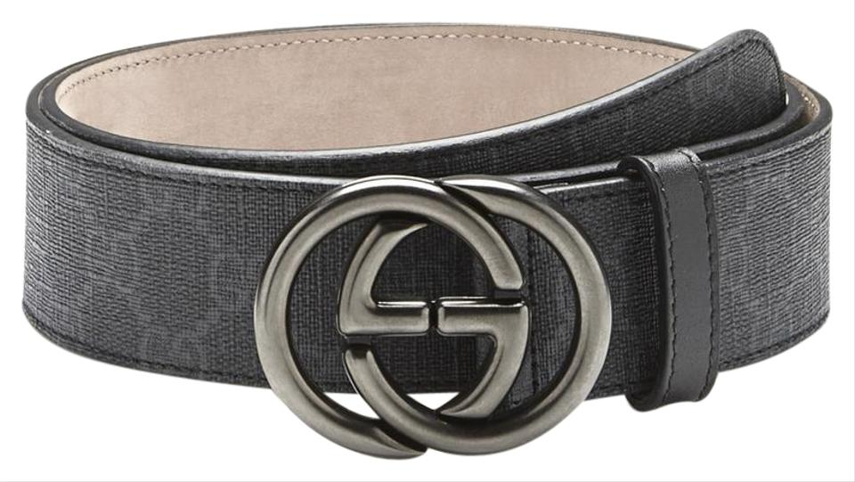 122e41450 Gucci Gucci Men's GG Supreme with Interlocking G Buckle Leather Belt 295777  Image 0 ...