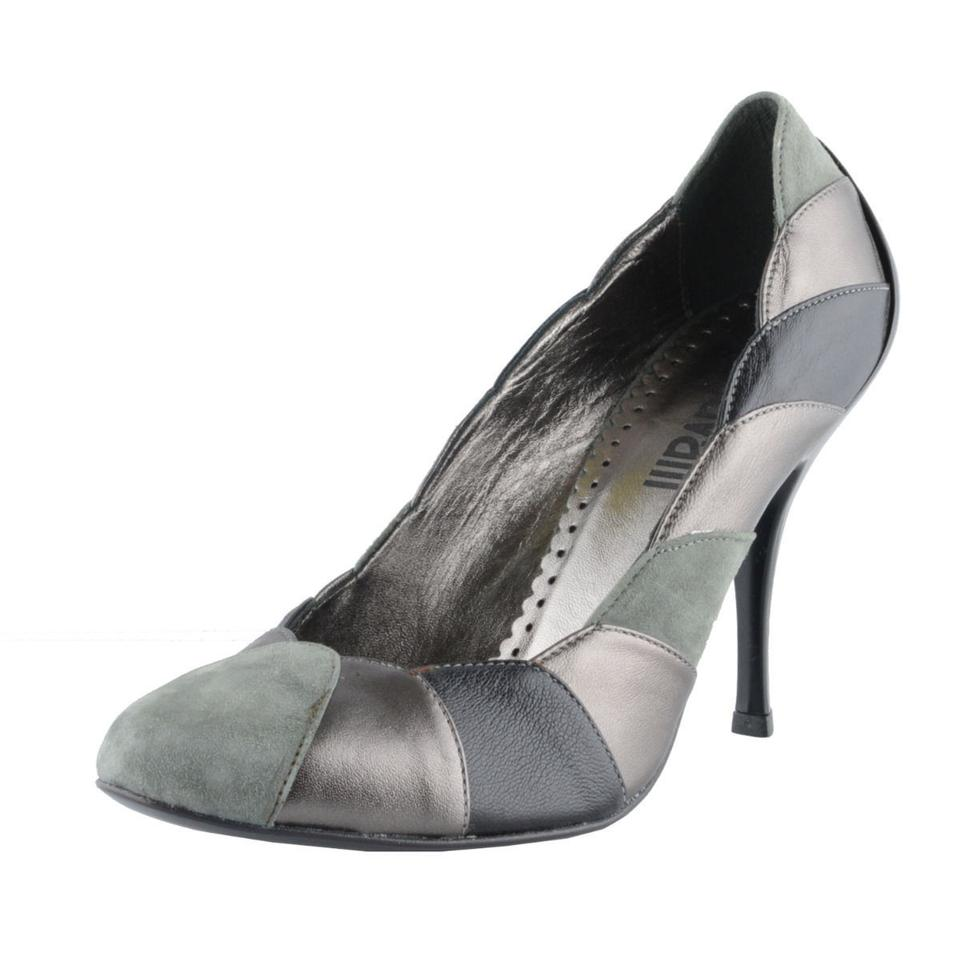 Just Cavalli Gray Women's Suede Leather Pumps High Pumps Leather 8af32f