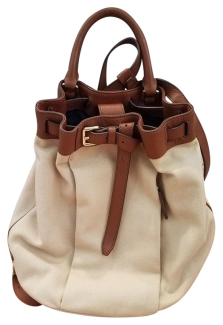Item - And Cream Canvas Leather Backpack