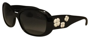 Chanel 5113 camellia black and white