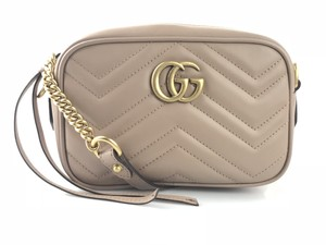 Gucci Gg Marmont Matelasse Mini Rose Cross Body Bag