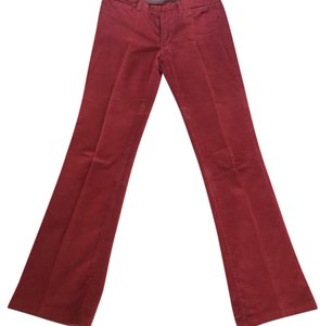 7 For All Mankind Boot Cut Pants red
