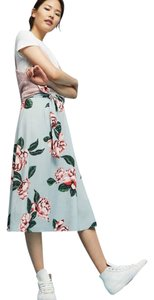 Paper Crown Anthropologie Xxs Petite Skirt Floral