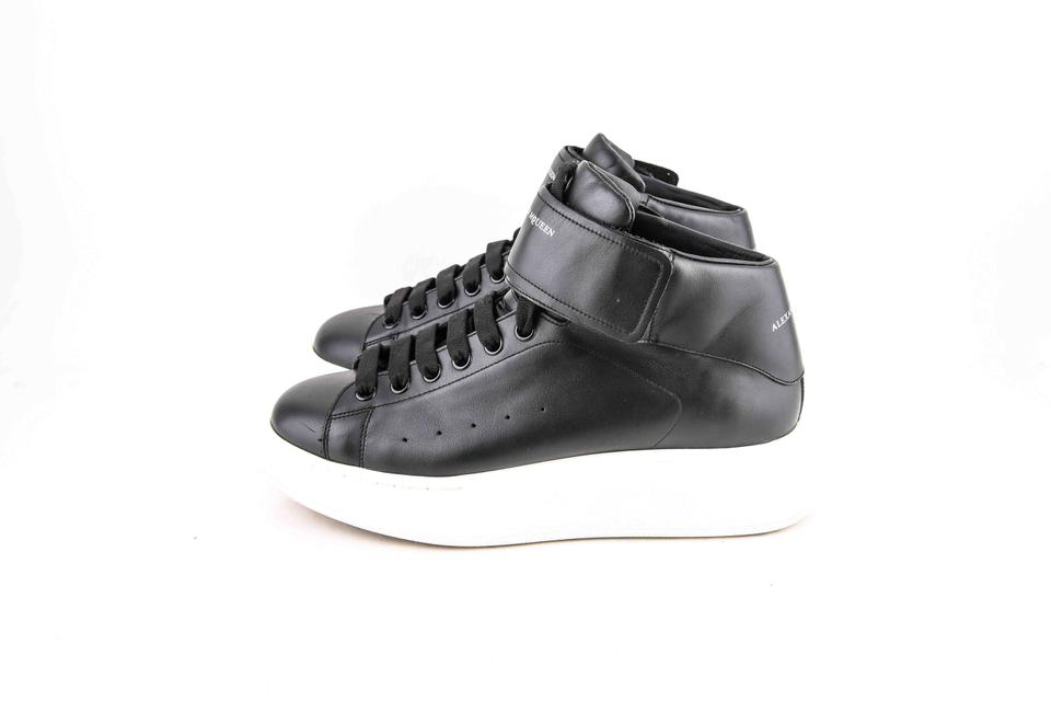 09cb34d67d97f Alexander McQueen Black Oversized-sole High-top Sneakers Shoes Image 7.  12345678
