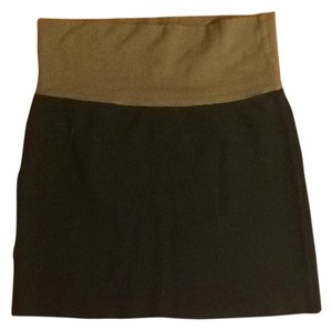 American Apparel Skirt Black And Brown