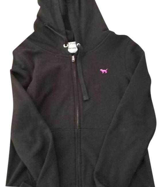 PINK Black Vs Full Sweatshirt/Hoodie Size 6 (S) PINK Black Vs Full Sweatshirt/Hoodie Size 6 (S) Image 1