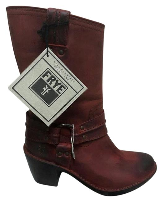 Item - Brick Red New Carmen Harness Short Burnt Vintage Leather Womens Boots/Booties Size US 6 Regular (M, B)